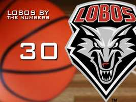 30: The number of consecutive games the Lobos have won when leading at halftime.