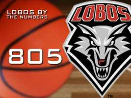 805: The number of free throws the Lobos attempted this season.