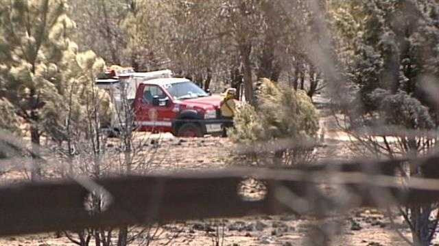 Right now a wildfire in Otero county is nearly half contained and crews are not leaving, until it's completely out.