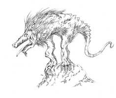 The Chupacabra is a monster that reportedly drinks the blood of livestock. Newspaper reports dating to the 1950s suggest the 4-foot-tall creature was sighted preying on animals throughout the Americas, including New Mexico.