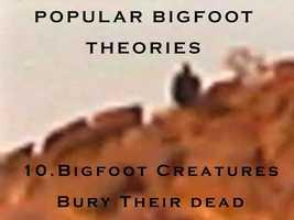 10. Bigfoot creatures bury their dead
