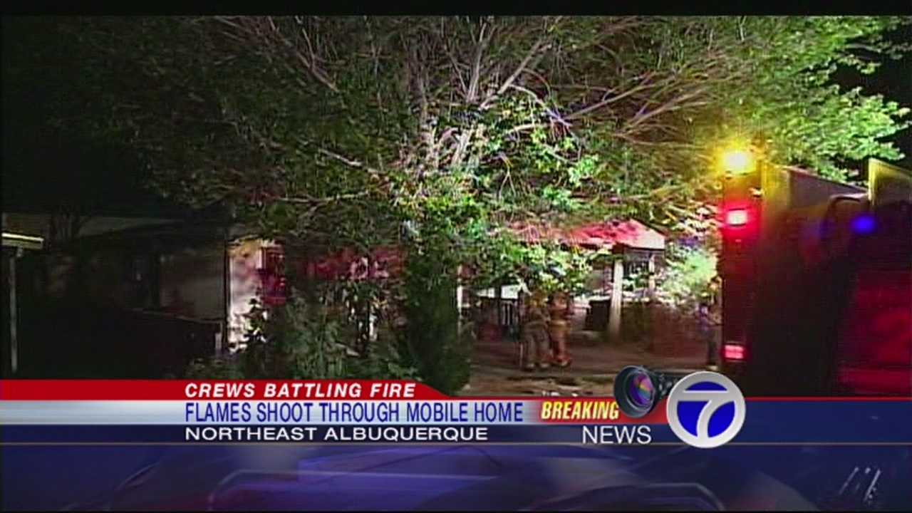 Crews Battle Early Morning Mobile Home Fire
