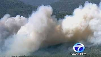 Fire near Jemez Springs forces evacuations