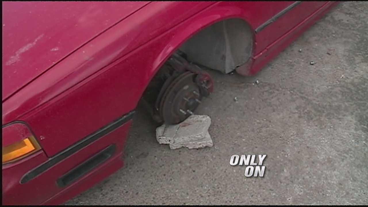 Wheels swiped from 5 cars