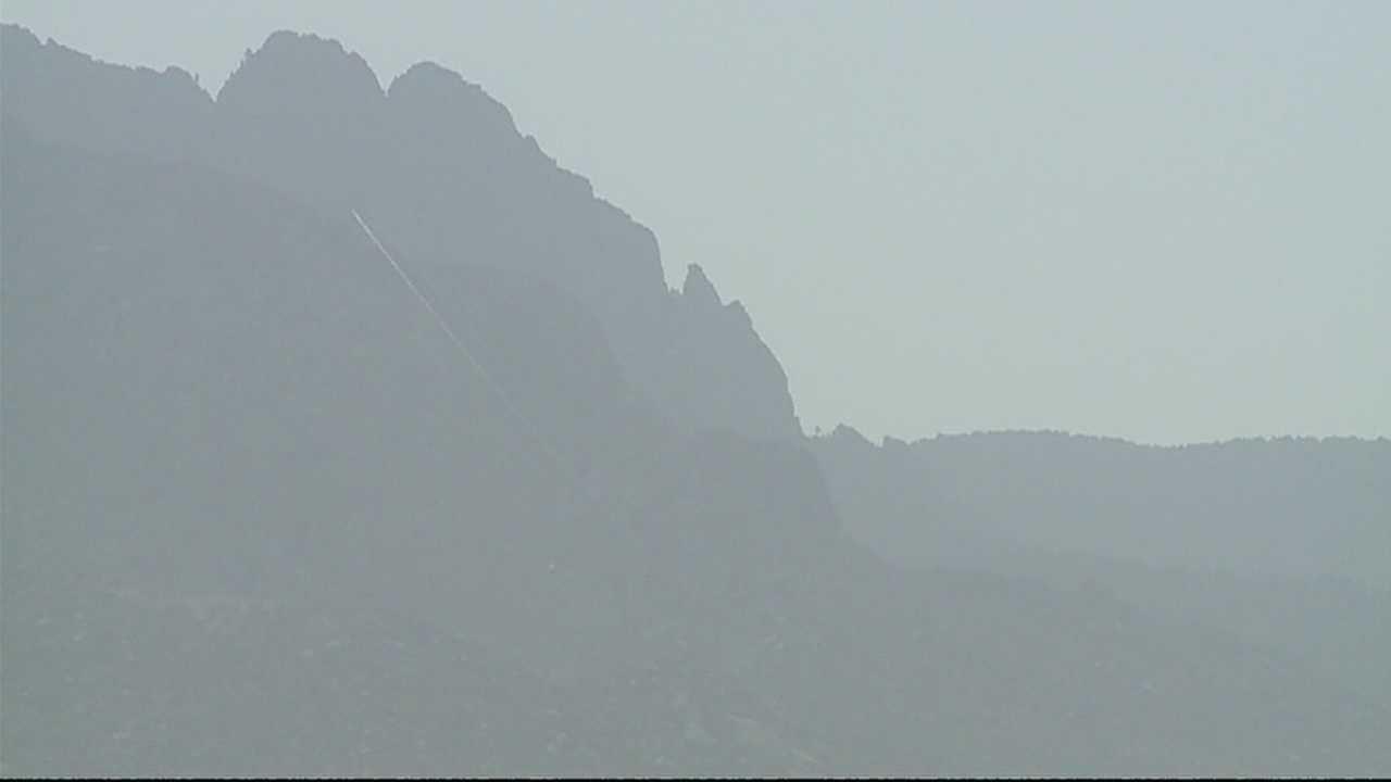 Haze fills New Mexico's skies