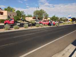 A woman was transported to University of New Mexico Hospital in critical condition Tuesday following a car crash. She has since been stabilized.