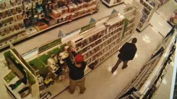 Two men were caught on a surveillance camera Tuesday attempting to steal Xbox controllers at an Albuquerque Target.