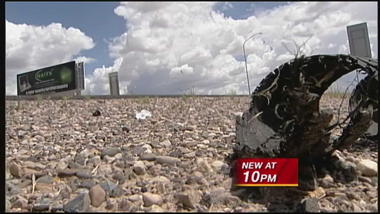 It's not just bears New Mexicans have to look out for these days it's gators too.  Not the animal but tires that blow out, leaving thick rubber on the highway.  The department of transportation says it's seeing the dangerous debris more often lately.