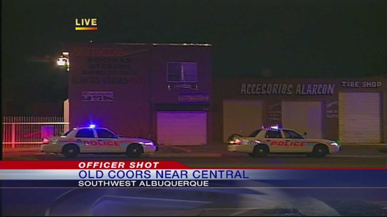 A officer accidentally shot another officer Monday night while on duty.