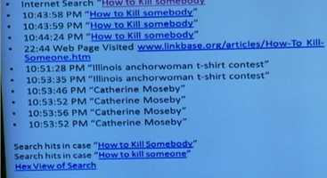 "Computer techs reveal that someone searched ""How to kill someone"" and ""How to rip out someone's throat"" on the Chavez computer. CLICK HERE TO WATCH"