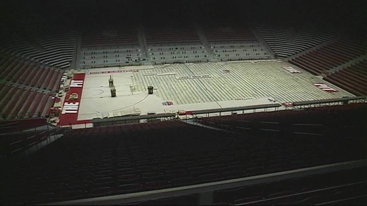 THIS SEASON, U.N.M. WILL BE PLAYING ON A NEW FLOOR.