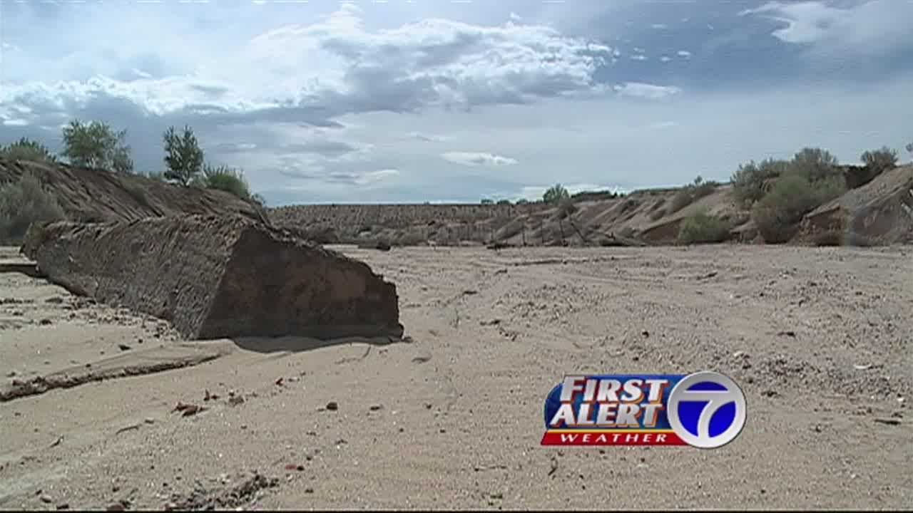 Residents in Corrales blame the recent rains for the cause of he levee breaking and flooding streets.