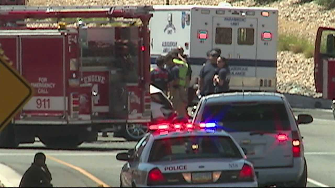 Authorities haven't revealed whether or not charges will be filed in a deadly car crash that happened Sunday near the Big I.