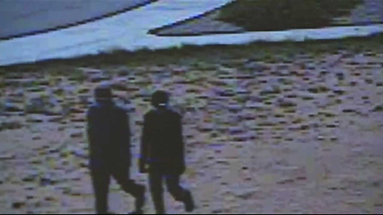 img-Caught on camera 2 men steal 8 computers from a school