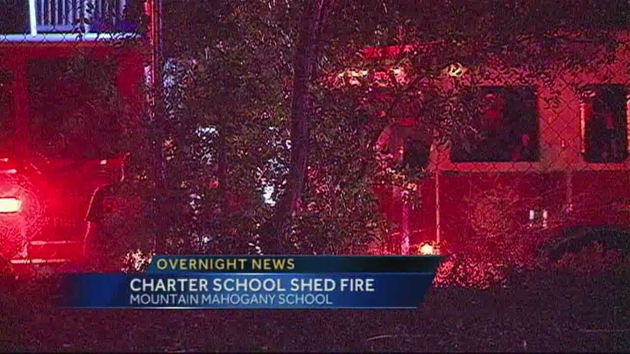 The fire happened just after 11pm Saturday at the Mountain Mahogany Charter School on 4th St.