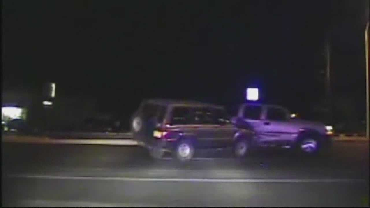 img-Drunk driver crash caught of police dash cam video
