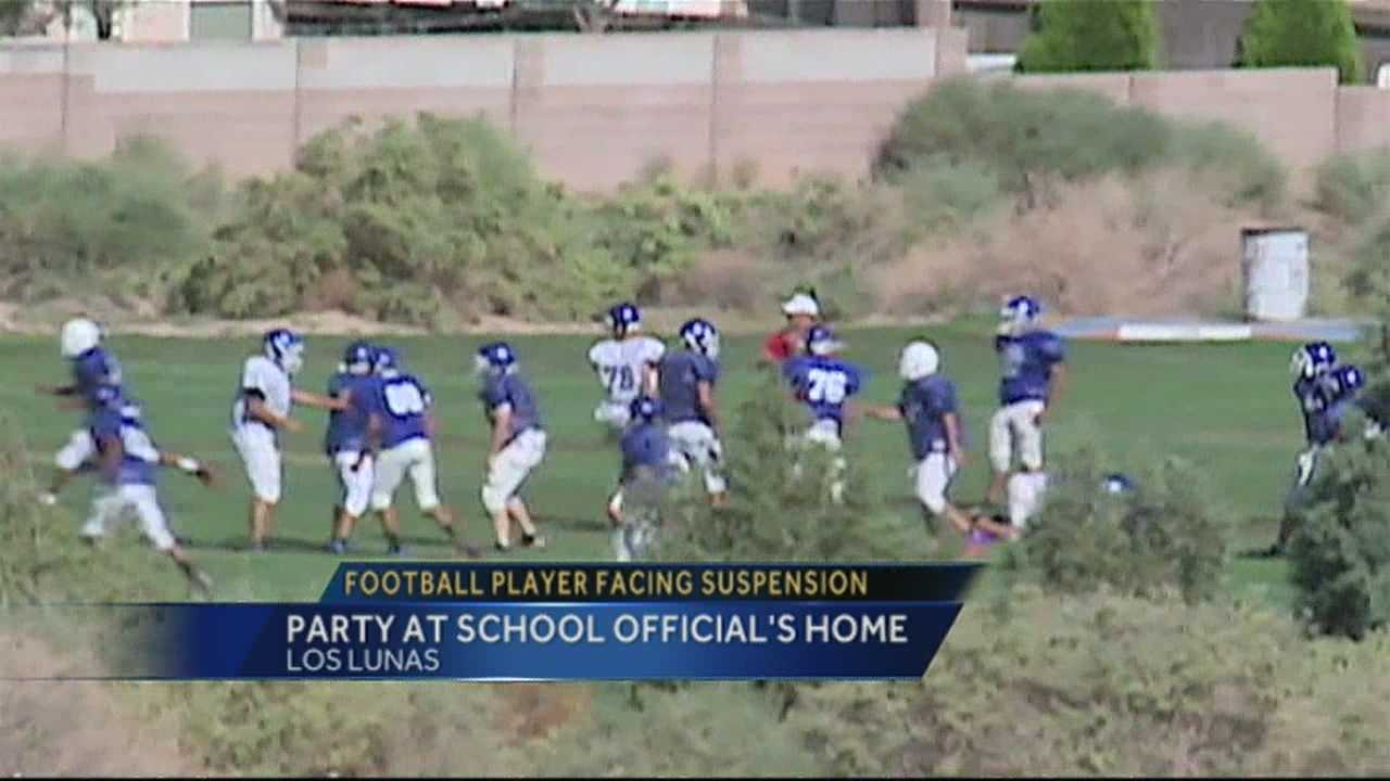 img-Los Lunas football player caught drinking at house party