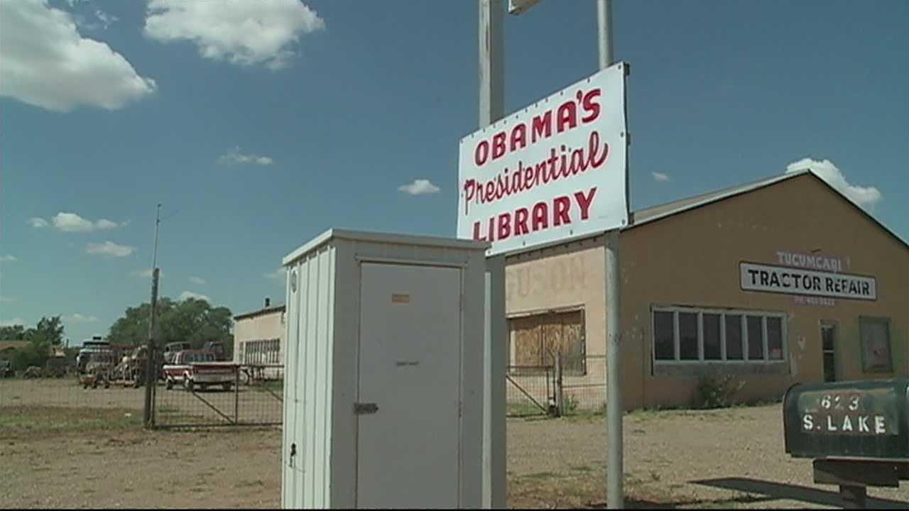 img-Anti-Obama sign causing controversy in Tucumcari