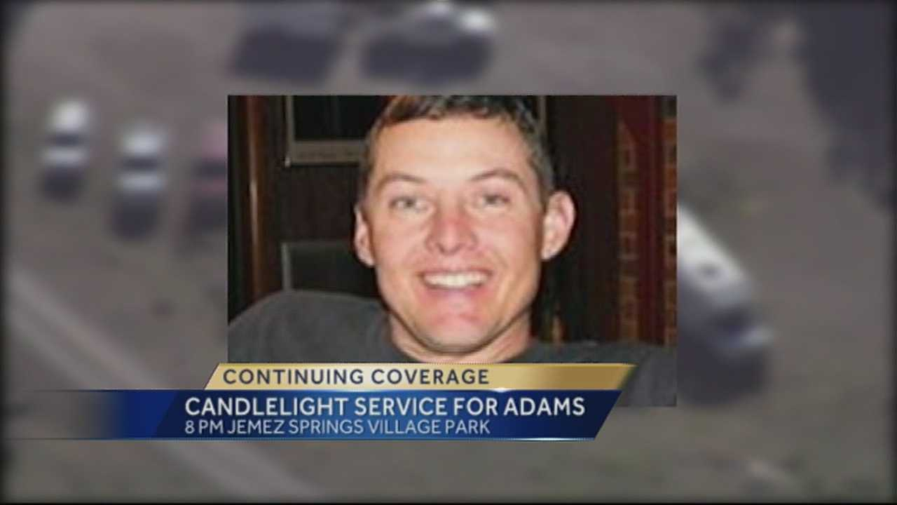 A vigil was held to honor the life of firefighter Token Adams.