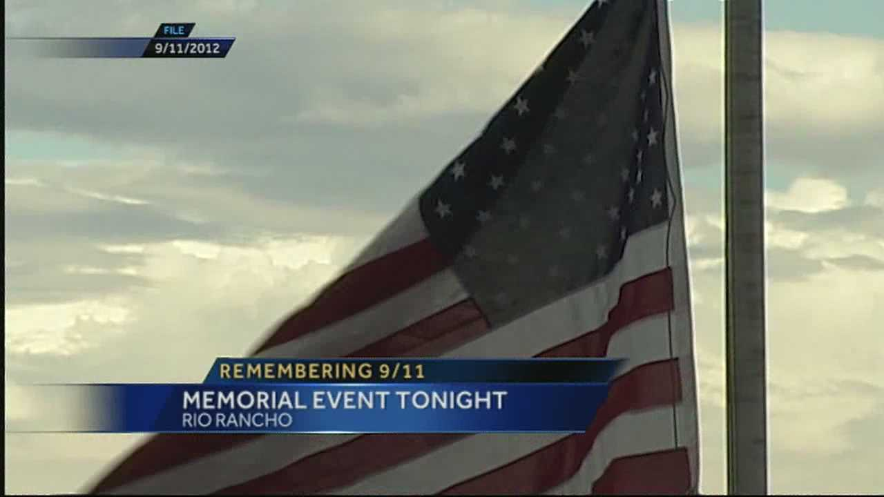 Rio Rancho 9/11 Flag Placement and Memorial Service