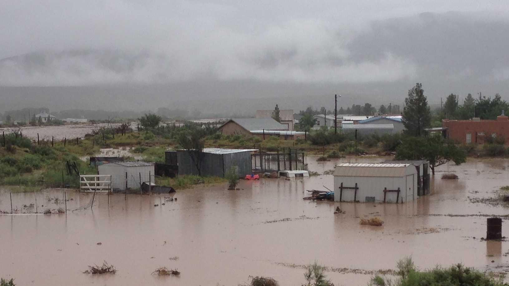 Palomas flooding.