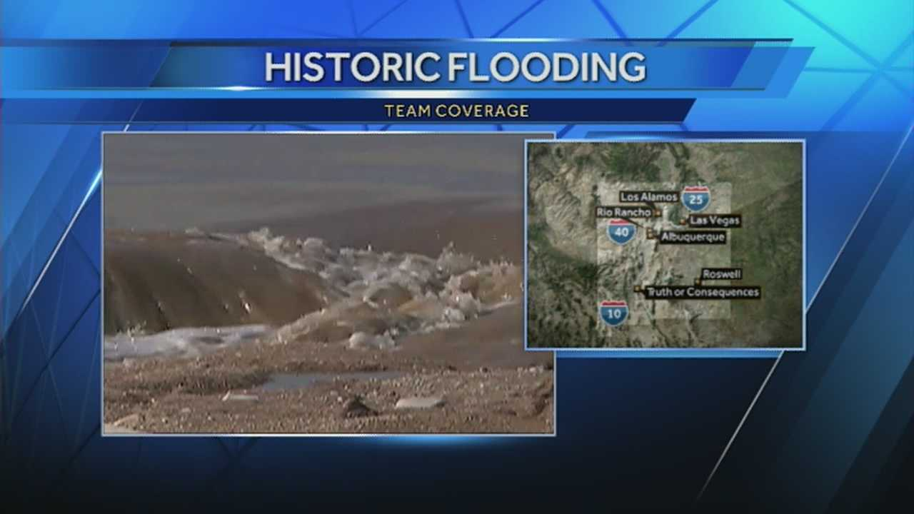There is a flood warning for the Rio Grande at Albuquerque.