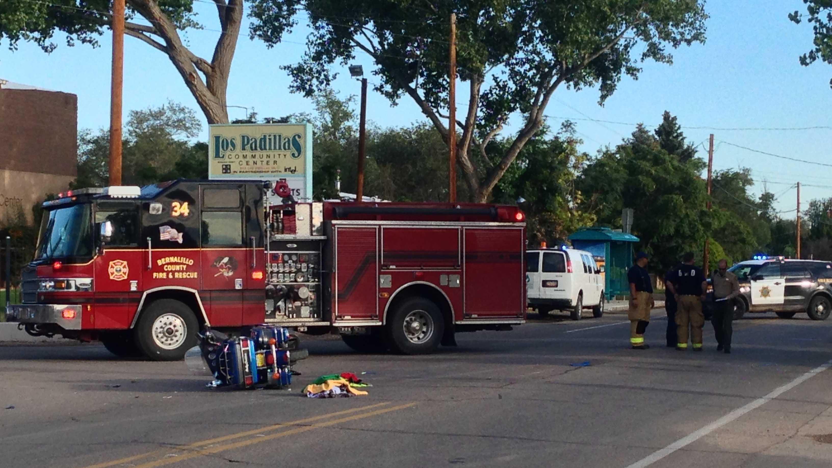 Motorcycle Crash at Isleta and Los Padillas Sept. 16, 2013