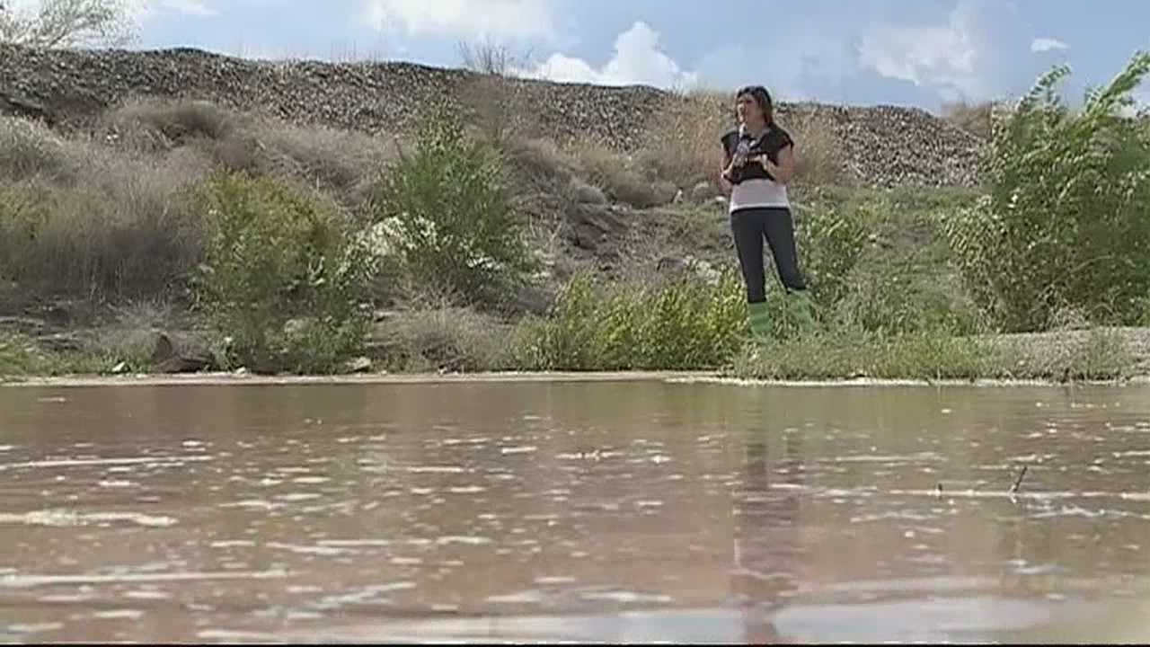 The threat of flooding was so bad that Grants High School and Mesa View Elementary School were dismissed early on Monday. The fear was that flooding would lead to sewage backup.