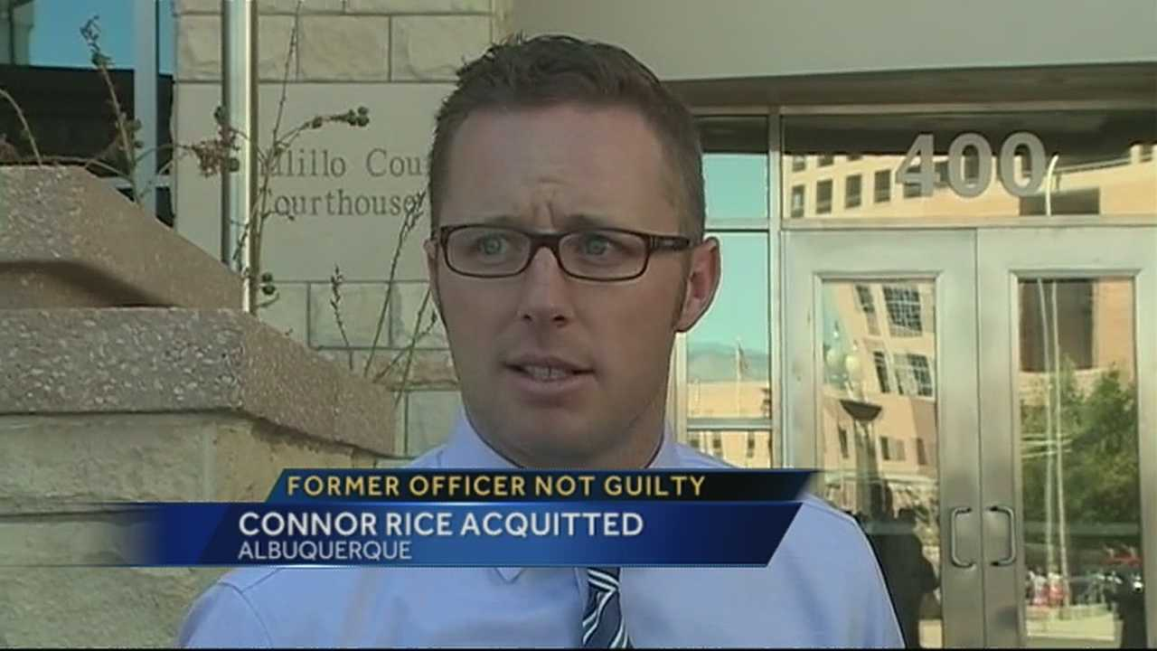 Ex-APD officer not guilty in battery case