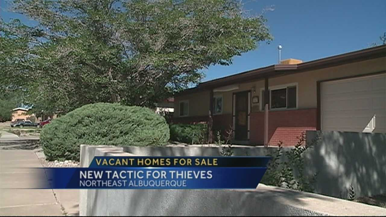 Thieves are now targeting vacant homes for sale, and robbing them of valuable objects left behind by the previous owners.