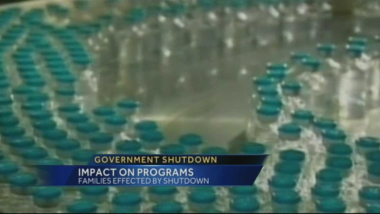 The federal government shutdown could impact early childhood education programs and CDC flu programs if it remains unresolved.