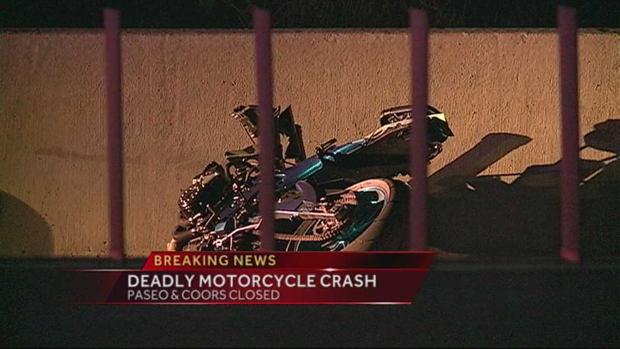 The crash happened just before midnight on eastbound Paseo Del Norte near Coors.