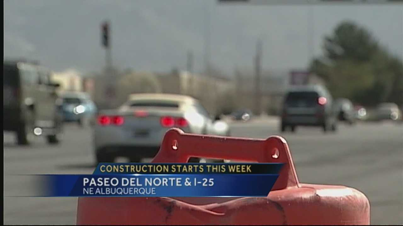 Construction on I-25, Paseo del Norte began today