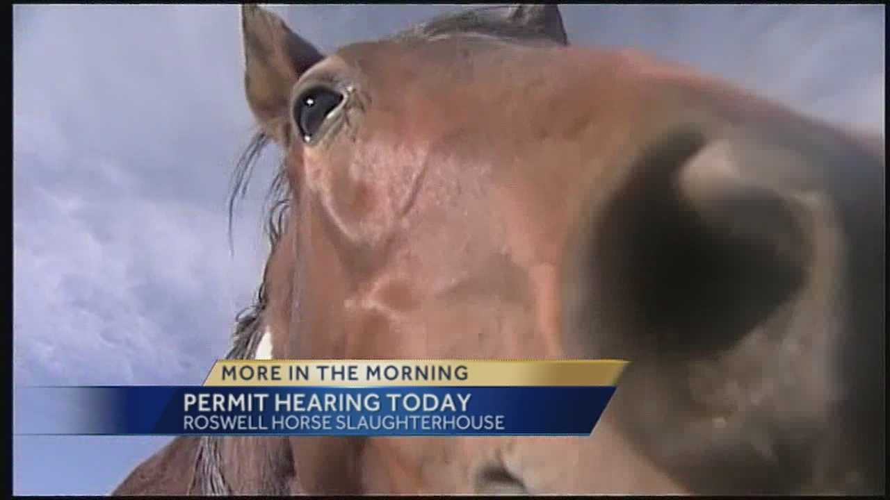 The controversy surrounding the Roswell horse slaughterhouse continues today.  Officials will meet to decide whether to renew the business water discharge permit.