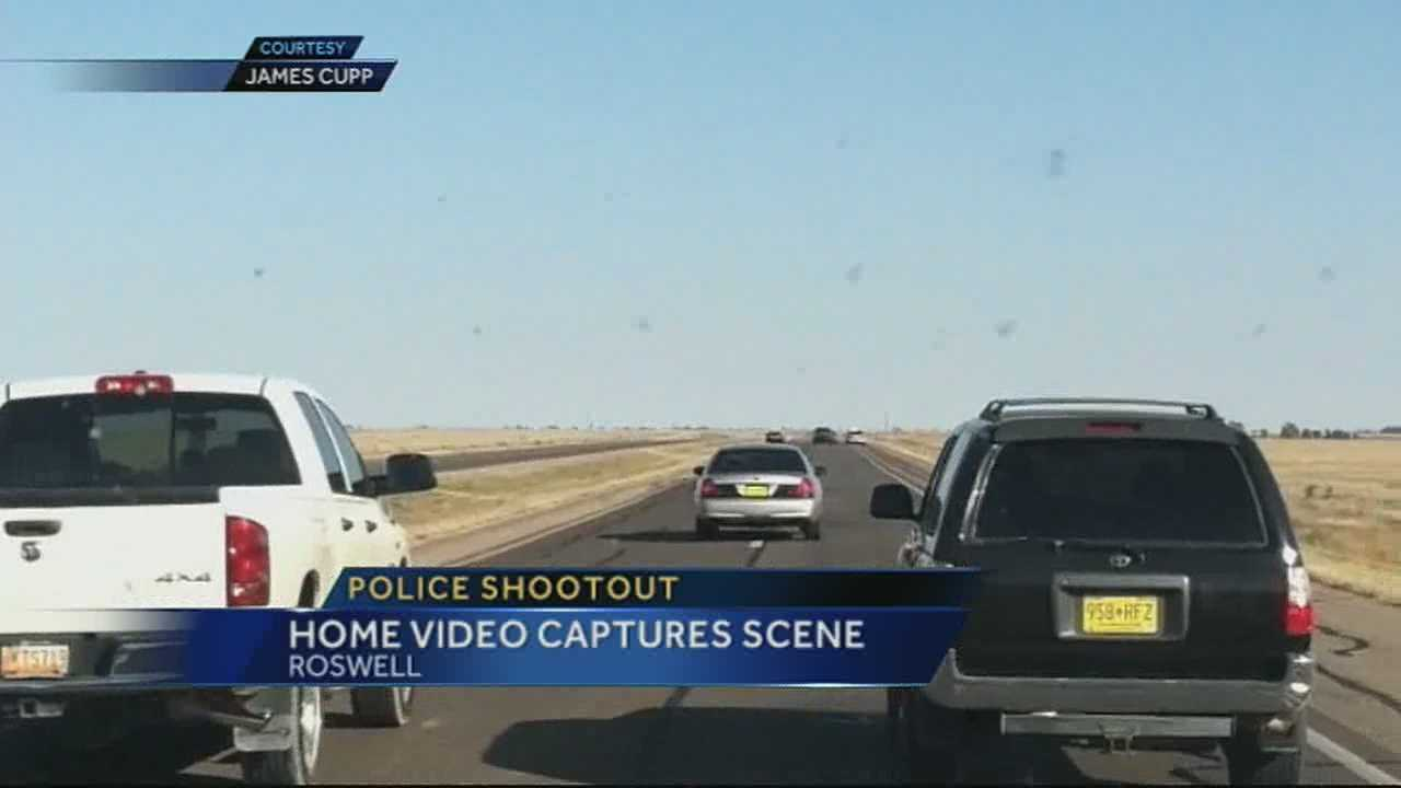 img-Eye witness records police chase leading to shoot out