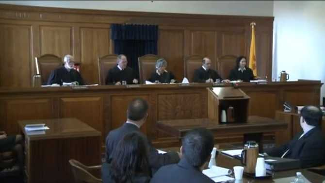 The New Mexico Supreme Court hears arguments surrounding the legality of same-sex marriage on Oct. 23, 2013.