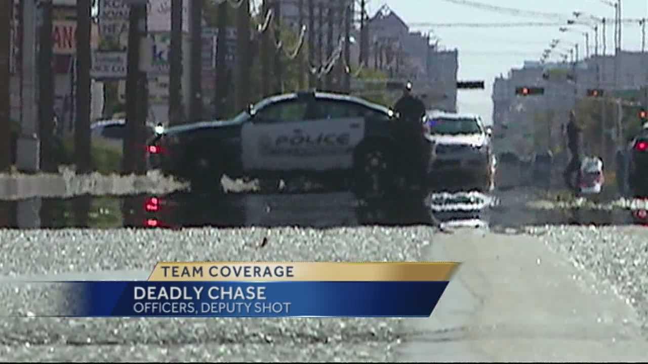 A total of four law enforcement officials were shot.
