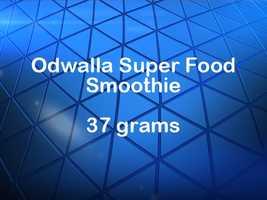 Odwalla Super Food smoothie has 37 grams of sugar.