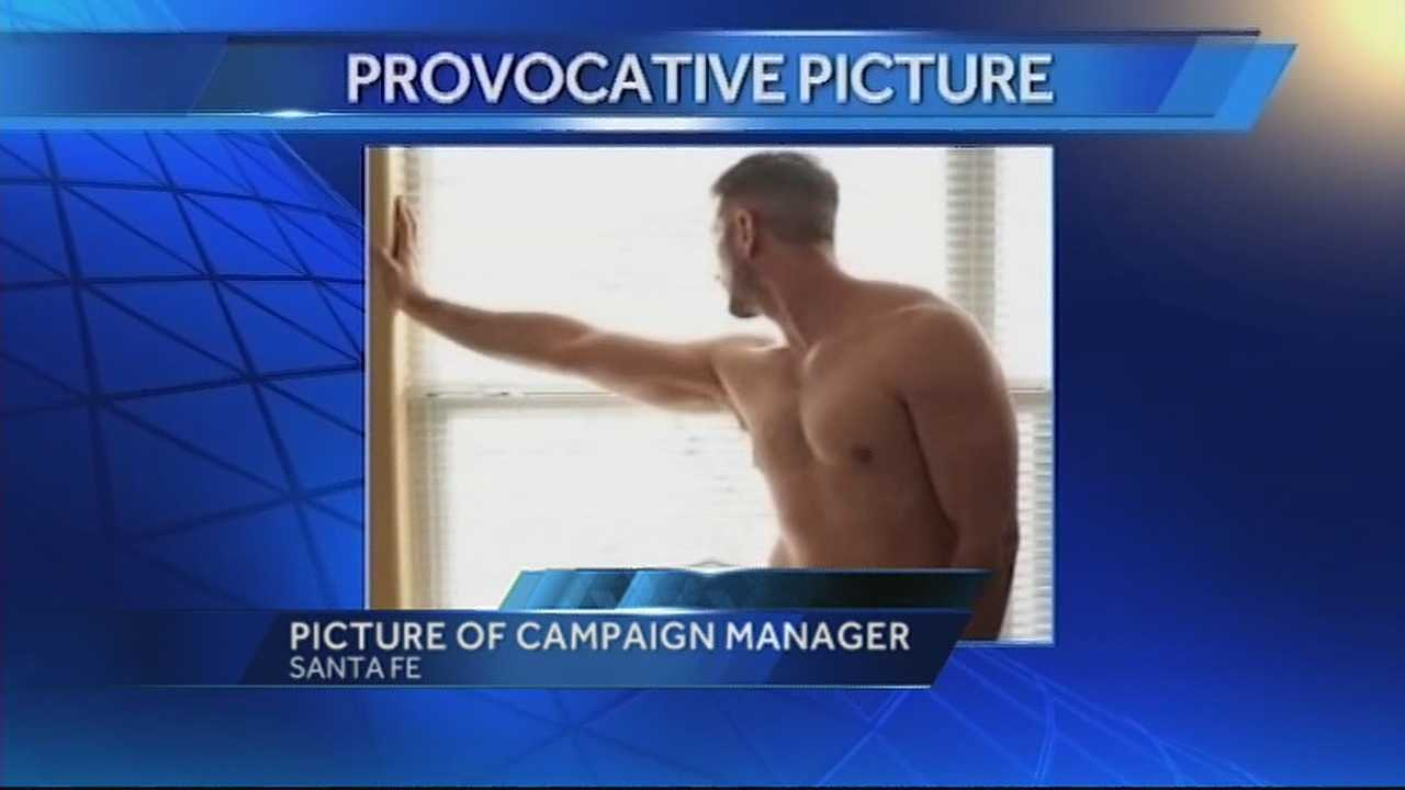 A nearly naked picture of a prominent Santa Fe man is making the rounds and making the race for Santa Fe's next mayor dirty.