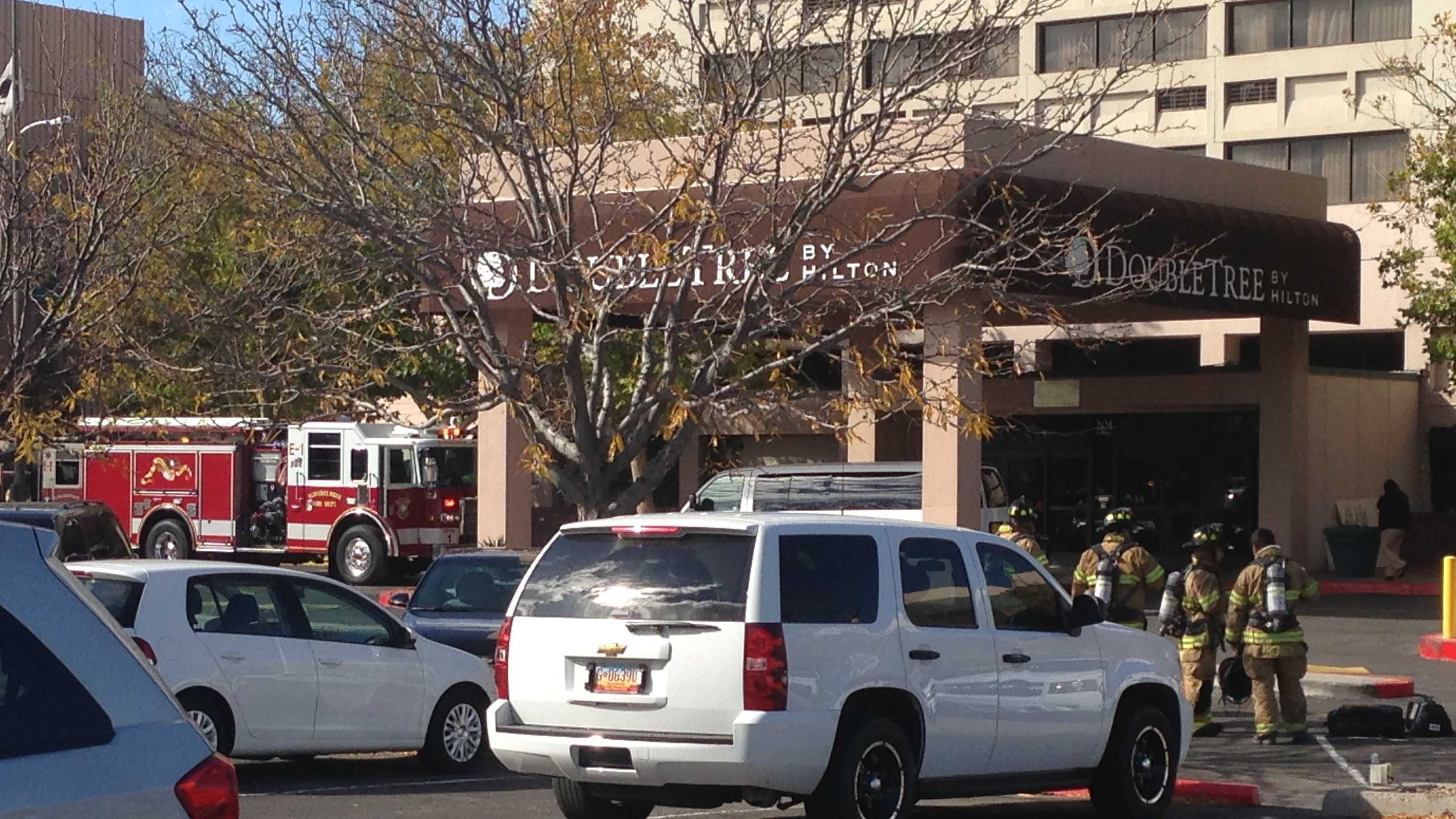 A fire broke out Wednesday on the 11th floor of the Double Tree Hotel