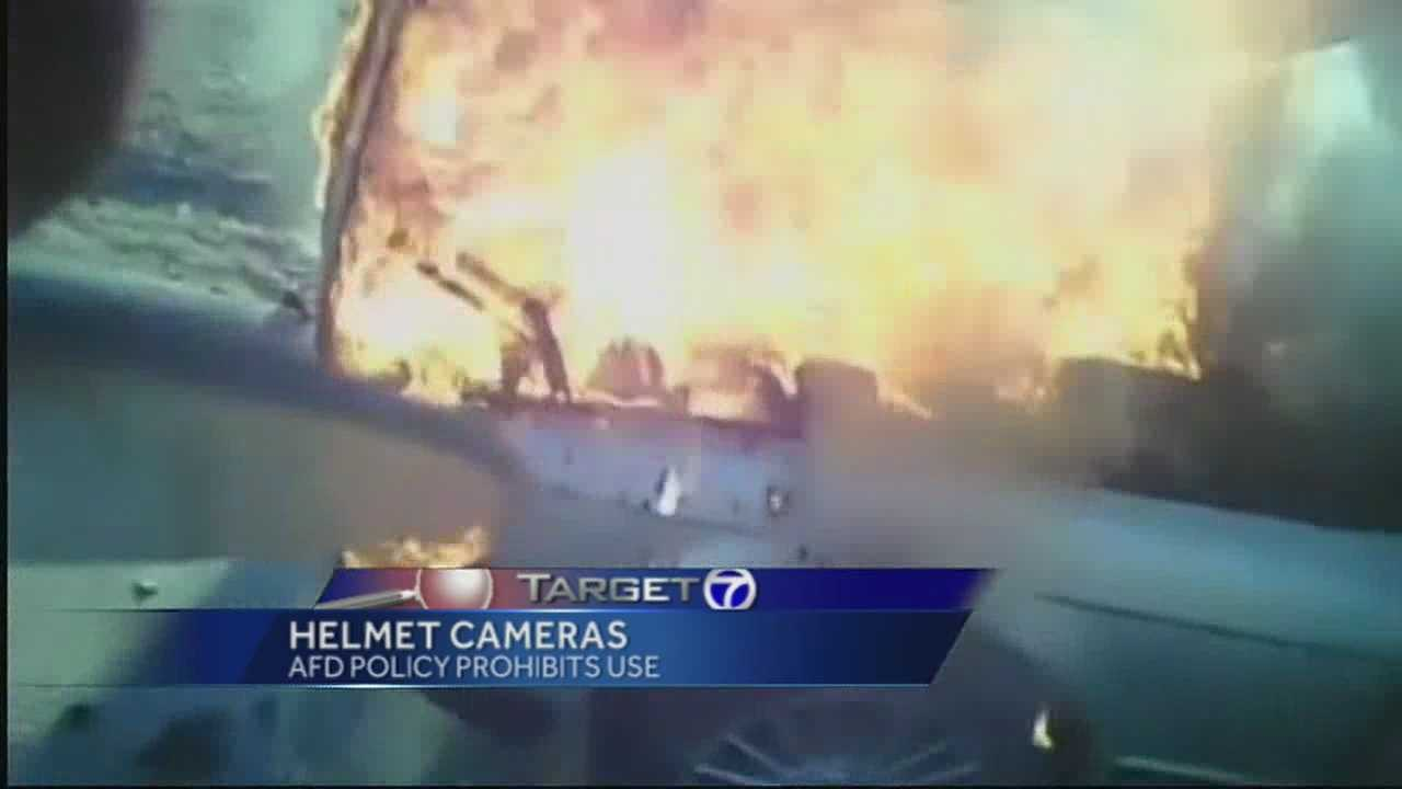 """Helmet camera"" records AFD in action, however, AFD has policy against camera use outside of training."