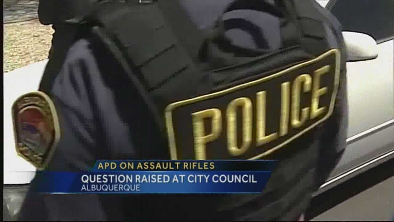 City council APD assault rifles