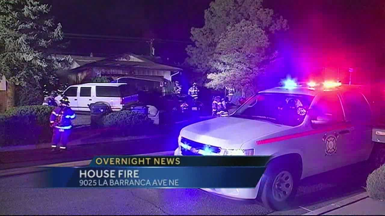 Northeast Albuquerque House Fire
