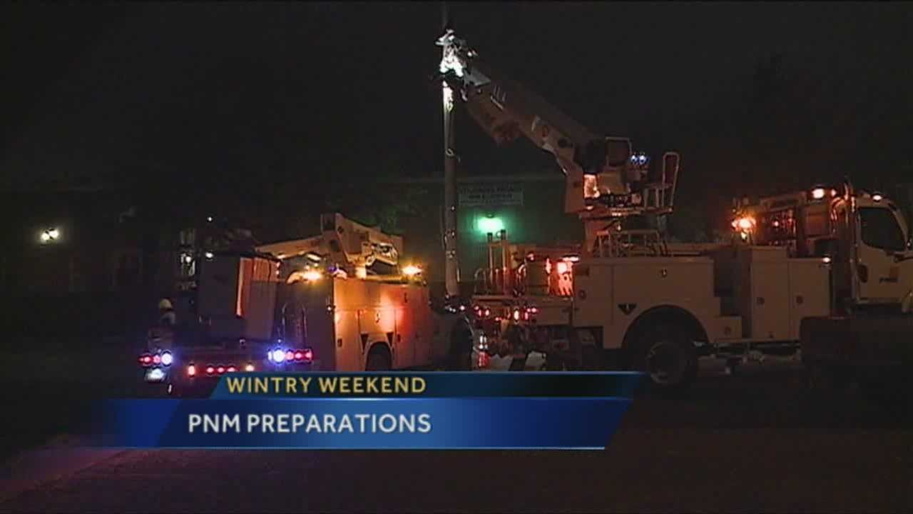 We tell you how PNM is preparing for the impending winter storm.