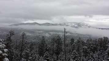 Snow on Redondo Peak