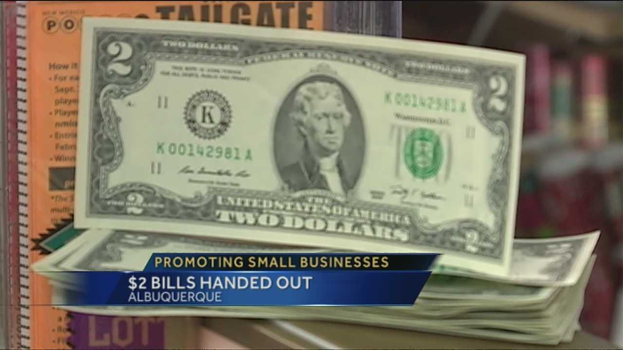 Don't be surprised if you see a two dollar bill in your wallet this week.  One Albuquerque pharmacy is recruiting President Jefferson to help get customers to shop local this holiday season.