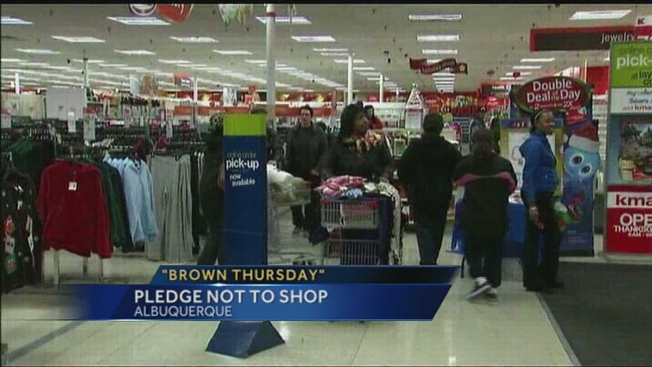 Two DJ's in Albuquerque are encouraging people to wait until Black Friday and not shop on Thanksgiving day.