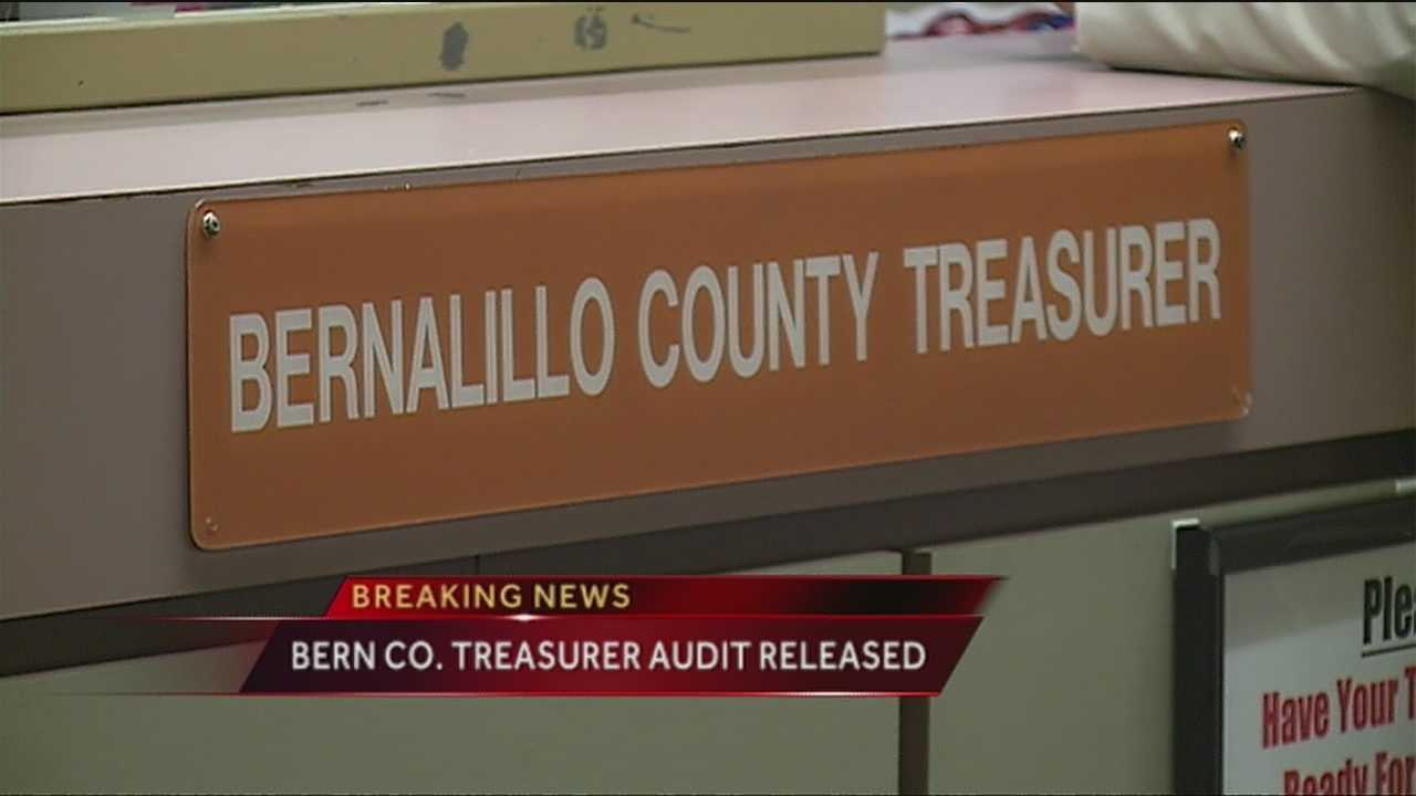 State auditor Hector Balderas released a financial audit Tuesday, and said the Bernalillo County Treasurer's Office broke state law, county policy and an ethics code while managing the county's investments.
