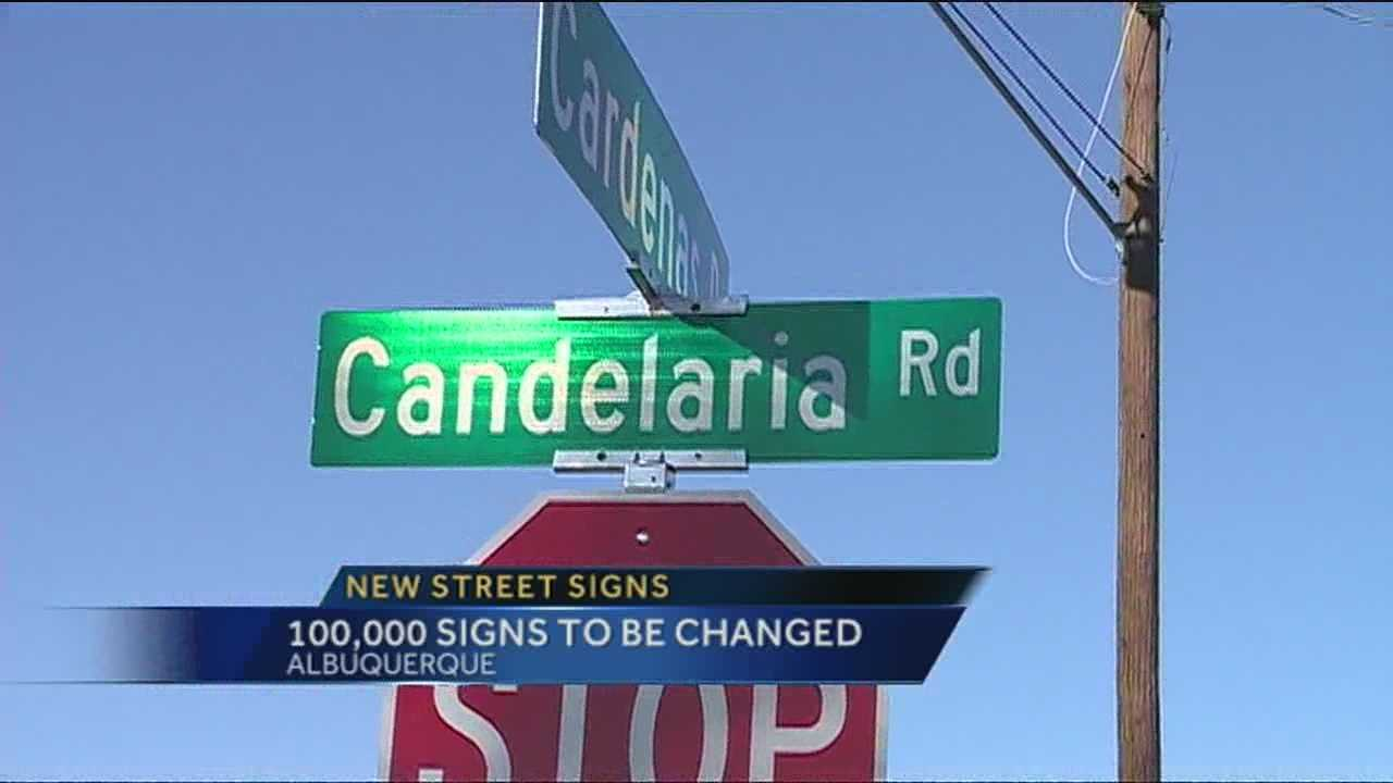 Albuquerque is in the middle of a multi-million dollar project to replace thousands of street signs.