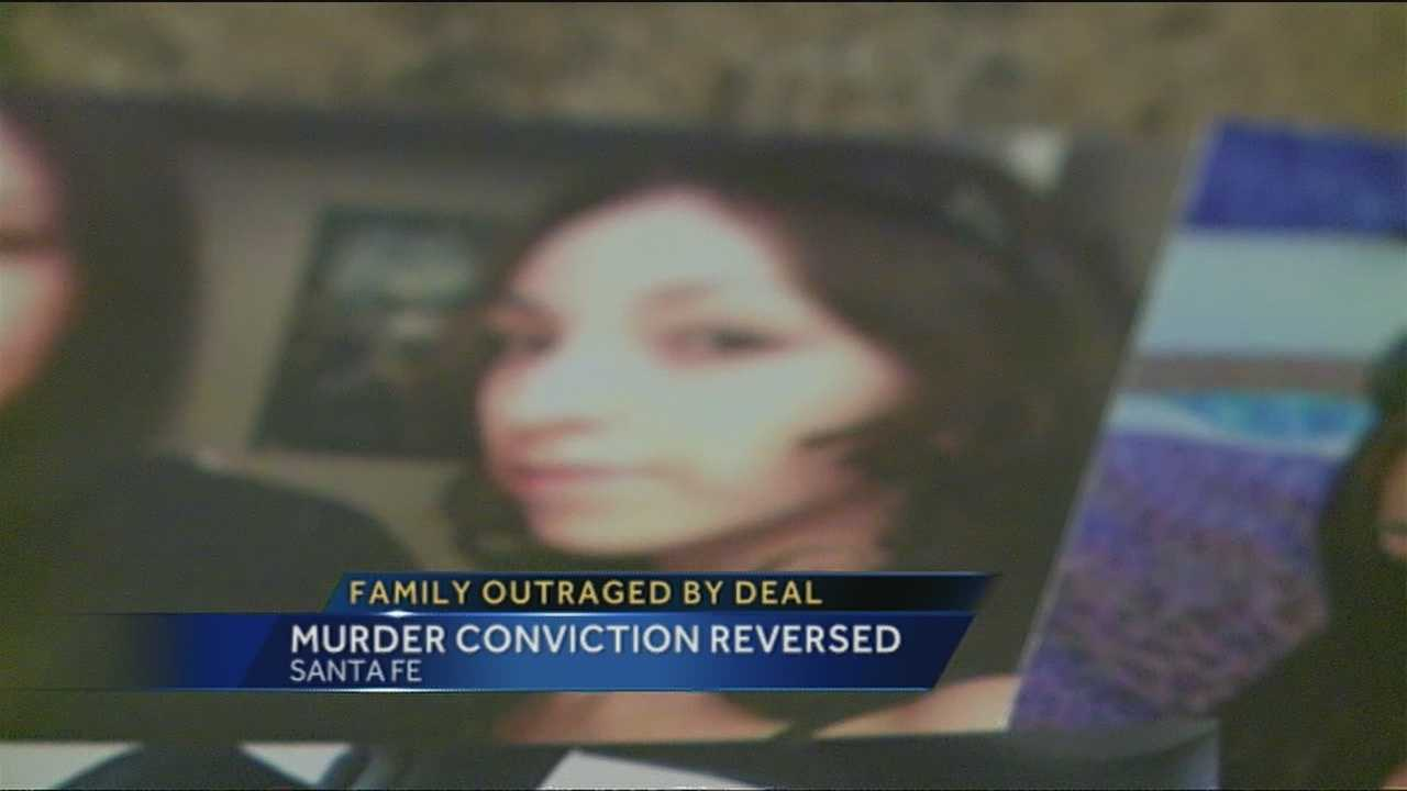 The family of a deceased women who was murdered while pregnant is outraged after the the overturned conviction of the father.